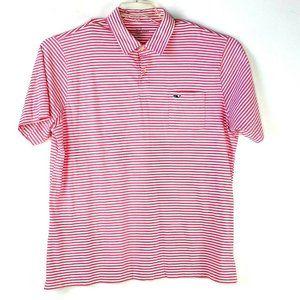 Vineyard Vines Men's Short Sleeve Polo Shirt Pink